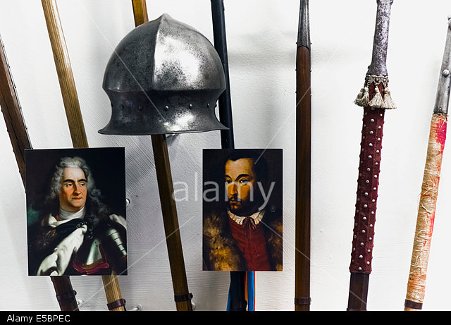E5BPEC Alma, Wisconsin, USA. 26th July, 2014. An exhibit at the Castlerock Museum, which houses the most complete arms and amor display in the Midwest. © Brian Cahn/ZUMA Wire/Alamy Live News